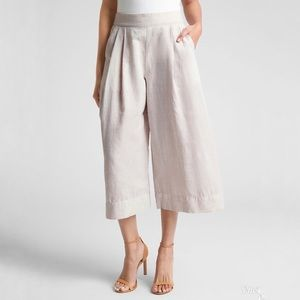Gap Linen High Waisted Wide Leg Pants